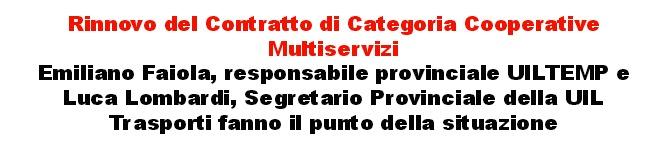 Rinnovo del contratto di categoria cooperative multiservizi