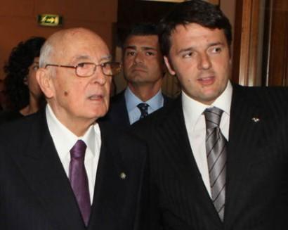 Incarico a Matteo Renzi Provvedimenti, Fronte interno