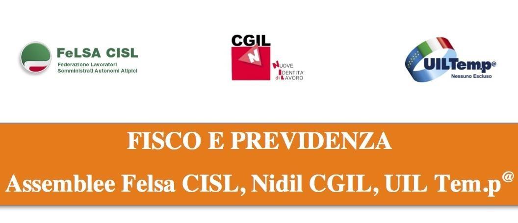 Fisco e Previdenza: assemblee nazionali