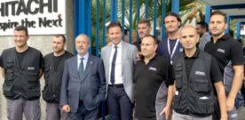 Barbagallo visita lo stabilimento Hitachi di Reggio Calabria